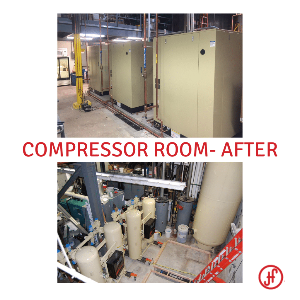 Compressor Room Before and After